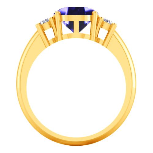 18k Pure Y Gold Natural 3 55Cts Purple Blue Sapphire Diamond La s Wedding R
