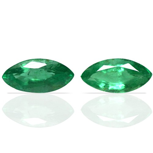 1.64 Cts Natural Green Emerald Unheated Gems Marquise Cut Pair Zambia 2 Pcs