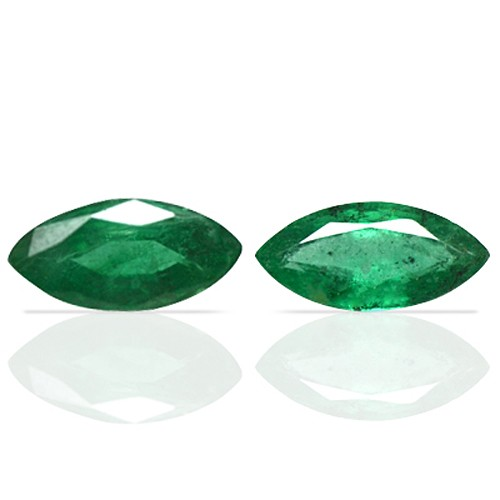 1.60 Cts Natural Green Emerald Unheated Gems Marquise Cut Pair Zambia 2 Pcs