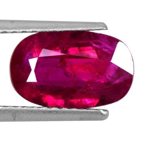 2.07 Cts Natural Top Deep Blood Red Ruby Gemstone Oval Cut Certified Mozambique