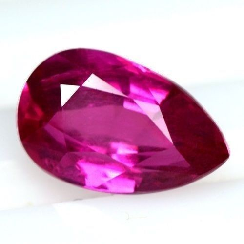 1.04 Cts Natural Top Pink Red Ruby Gemstone Pear Cut Certified Unheated Rare
