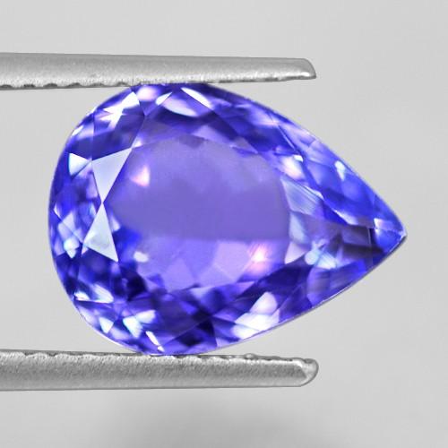 5.97 Cts Natural Top AAA+ D Block Blue Tanzanite Loose Gemstone Pear Cut Tanzania