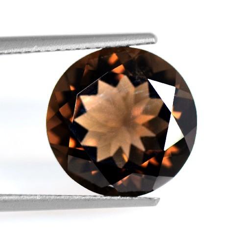 5.12 Cts Natural Best Brown Smoky Quartz Loose Gemstone Round Cut Africa 12 mm