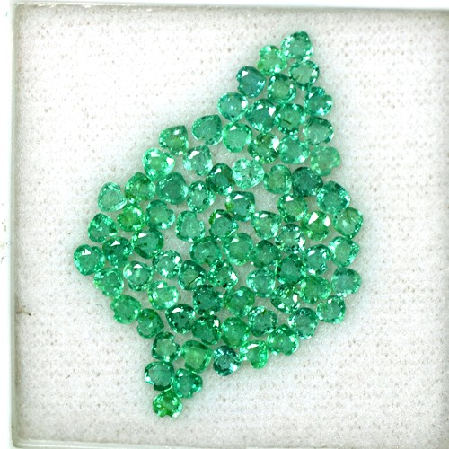 6.27 Cts Natural Top Green Emerald Heart Cut Lot Loose Gem Zambia Untreated 3 mm