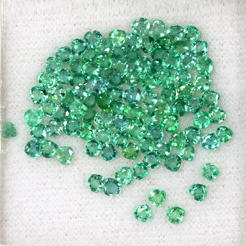 9.72 Cts Natural Top Green Emerald Heart Cut Lot Loose Gem Zambia Untreated 3 mm