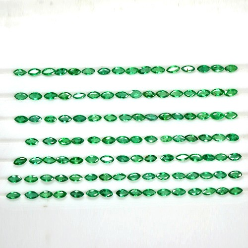 12.60 Cts Natural Lustrous Rich Green Emerald Marquise Cut Lot Zambia Awesome