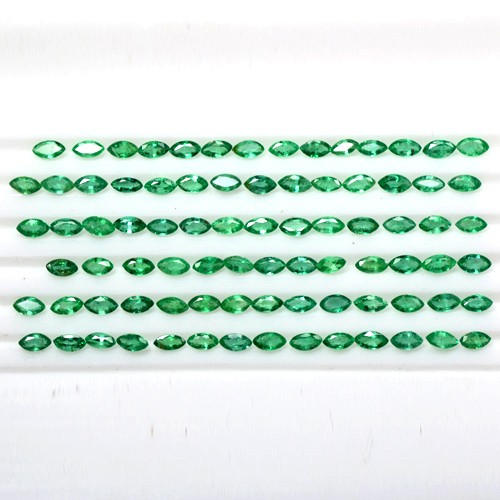 10.02 Cts Natural Lustrous Rich Green Emerald Marquise Cut Lot Zambia Wholesale