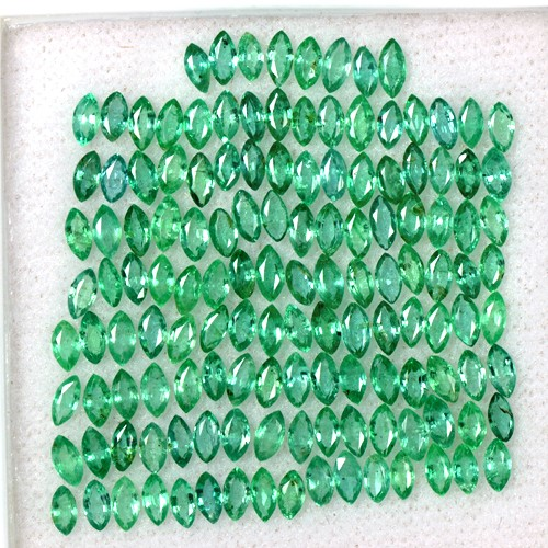 10.53 Cts Natural Flawless Lustrous Rich Green Marquise Cut Lot Zambia 4x2 mm