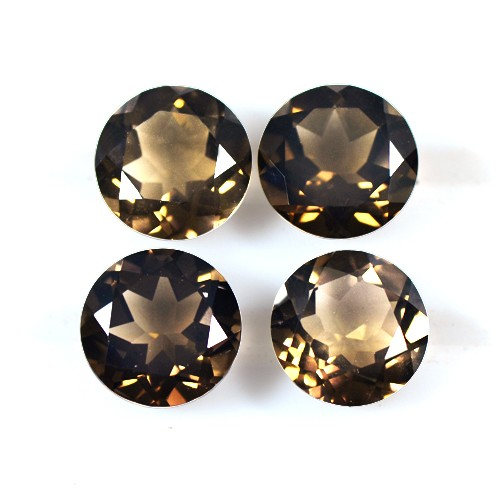 12.42 Cts Natural Top Brown Smoky Quartz Gemstone Round Cut Lot Africa 10 mm
