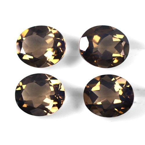 16.29 Cts Natural Top Brown Smoky Quartz Gemstone Oval Cut Lot Africa 12x10 mm