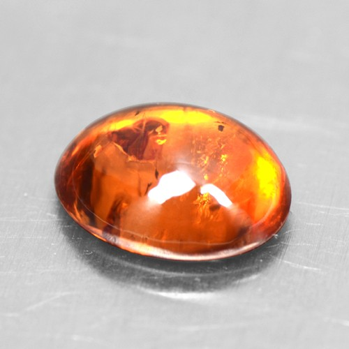 1.66 Cts Natural Lustrous Top Fanta Orange Spessasrtite Garnet Oval Cab 8x6 mm