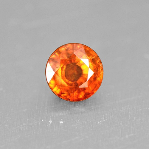 0.63 Cts Natural Top Lustrous Fanta Orange Spessasrtite Garnet Round Cut Loose