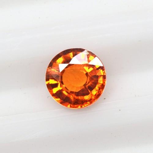 0.55 Cts Natural Top Lustrous Fanta Orange Spessasrtite Garnet Round Cut Loose