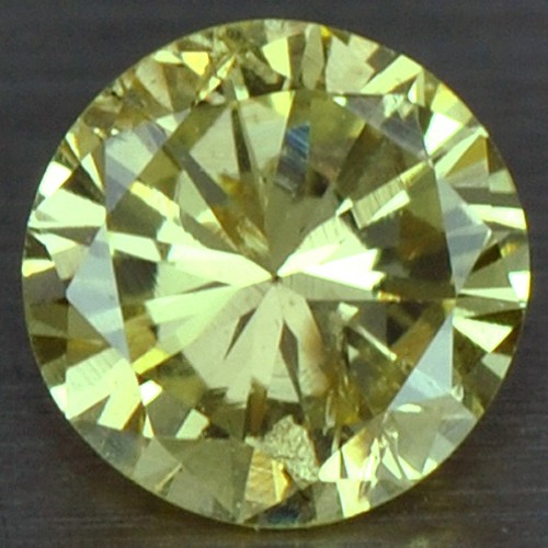 0.16 cts Natural Fancy Yellow Diamond Loose Gemstone Round Cut Untreated