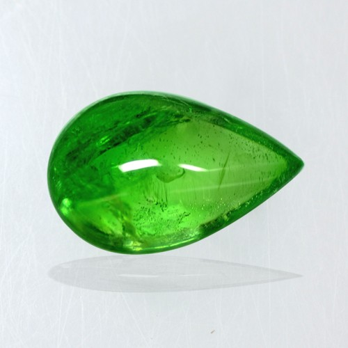 3.69 Cts Natural Lustrous Emerald Green Tsavorite Pear Cabochon Kenya Gemstone