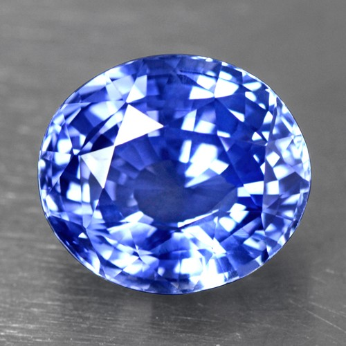 4.96 Cts Natural Certified Flawless Cornflower Blue Sapphire Oval Cut 10x9 mm
