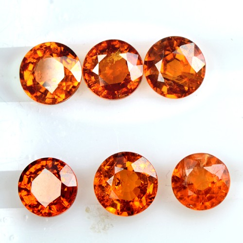 3.96 Cts Natural Lustrous Fanta Orange Spessartite Garnet Lot Unheated Namibia