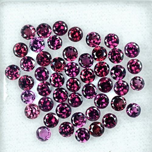 15.85 Cts Natural Top Rhodolite Garnet Round Cut Lot Madagascar Gemstone 4 mm