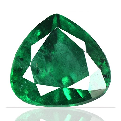 1.41 cts Natural Top Emerald Gemstone Heart Cut Zambia untreated
