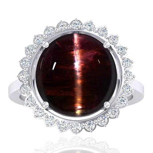 14 White Gold 10.03 cts Tourmaline Stone Diamond Engagement Women Fine Jewelry Ring