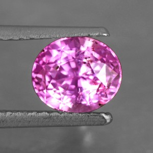 1.56 Cts Natural Certified Unheated Lustrous Top Pink Sapphire Oval Cut Ceylon