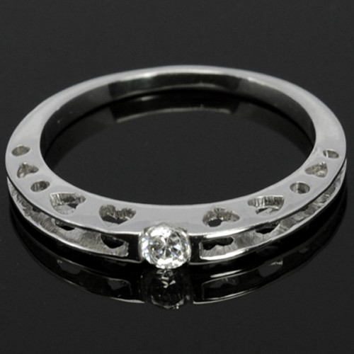 14K Pure White Gold Natural Top Diamond Ladies Wedding Cocktail Fine Ring