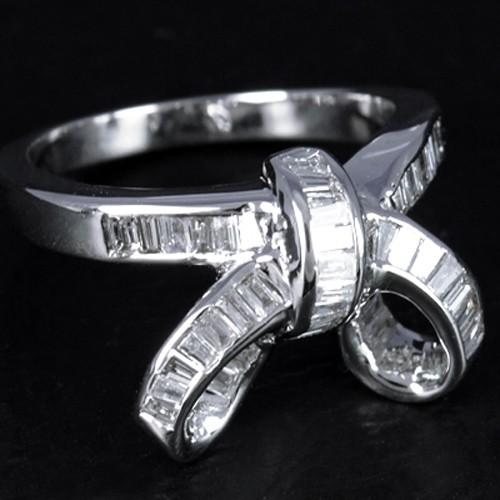 14K Pure White Gold Natural Top Diamond Ladies Cocktail Designer Fine Ring