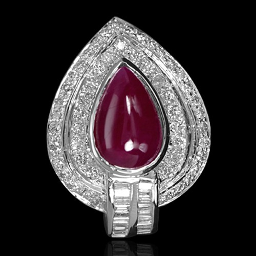14 k Pure Gold Natural Top unheated 2.51 ct Ruby Diamond Designer Fine Ring Jewelry
