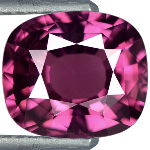3.21 cts Natural Rhodolite Garnet Gemstone Cushion Cut 9.2x8x4.9 mm Sri Lanka