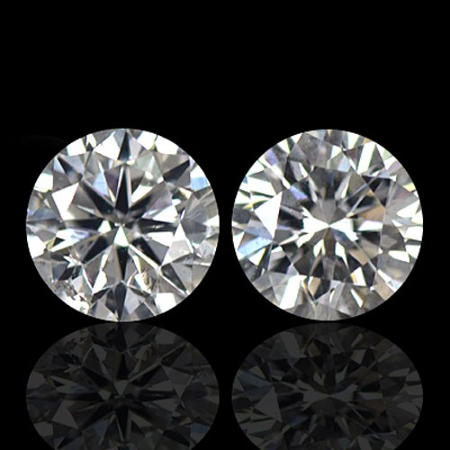 0.38 Cts Natural (G) Color Diamond Loose Gemstone Round Cut Pair Untreated 3.6mm