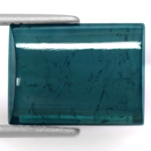 7.65 cts Natural Fancy Rectangle Cabochon Tourmaline Loose Gemstone Brazil
