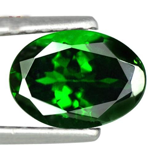 0.77 cts Natural Best Color! Emerald Green Tsavorite Gemstone Oval Cut Kenya