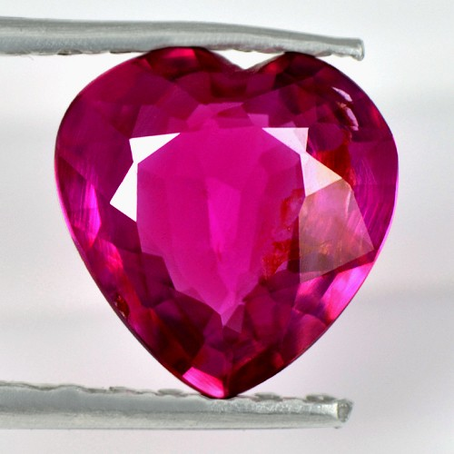 1.07 Cts Natural Top Rare Pink Red Ruby Heart Certified Unheated Winza Tanzania