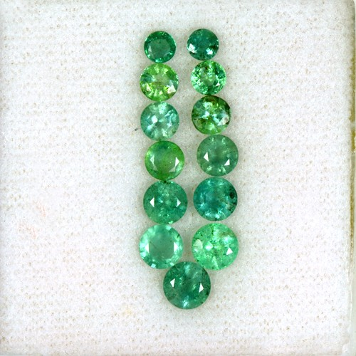 5.34 Cts Natural Top Green Emerald Loose Gemstone Round Cut Lot Untreated Zambia