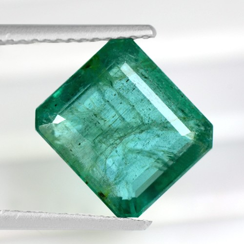 4.07 Cts Natural Top Green Emerald Octagon Cut Gemstone Untreated Zambia Lovely