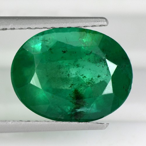 4.39 Cts Natural Top Green Emerald Loose Gemstone Oval Cut Zambia Untreated