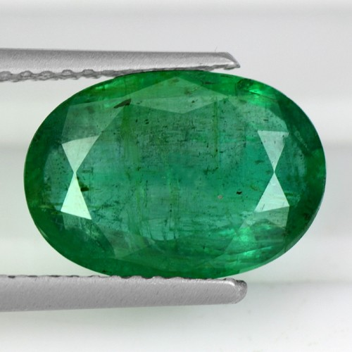 3.62 Cts Natural Top Green Emerald Oval Cut Loose Gemstone Untreated Zambia Best