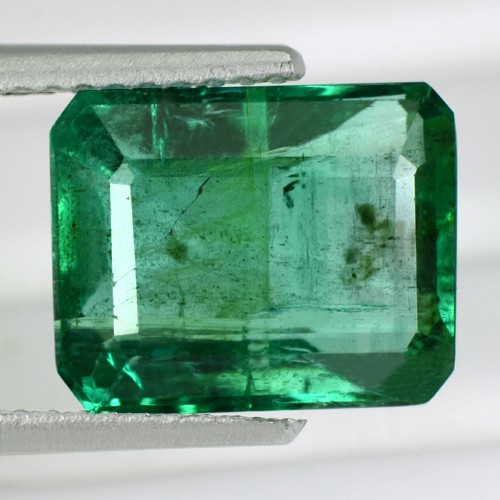 4.10 Cts Natural Top Green Emerald Octagon Cut Gemstone Untreated Zambia Lovely