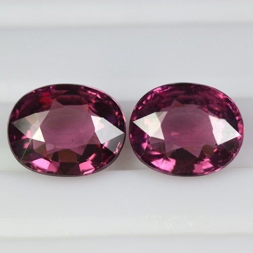 2.95 Cts Natural Top Pink Rhodolite Garnet Oval Cut Pair Mozambique Loose Gem