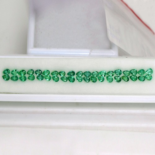 5.30 Cts Natural Green Emerald Loose Gemstone Pear Cut Lot Zambia 4 x 3 mm 38 Pcs