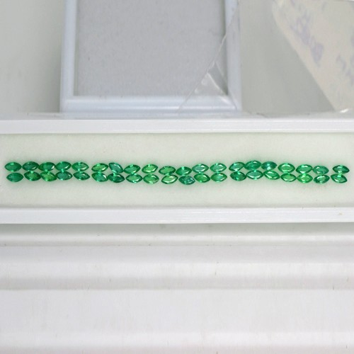 4.64 Cts Natural Green Emerald Loose Gemstone Marquise Cut Lot From Zambia Mined 40 Pcs