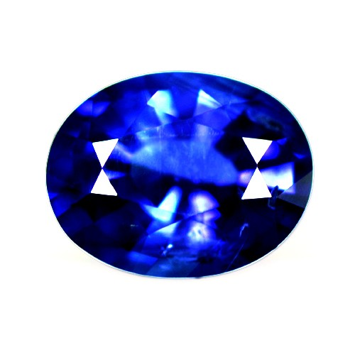 1.62 Cts Natural Top Blue Sapphire Loose Gemstone Oval Cut Certified Srilanka