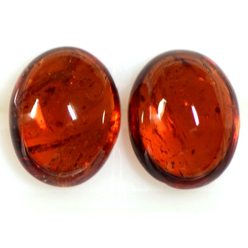 5.54 Cts Natural Orange Mandarin Spessartite Garnet Oval Cab Pair Namibia 9x7 mm