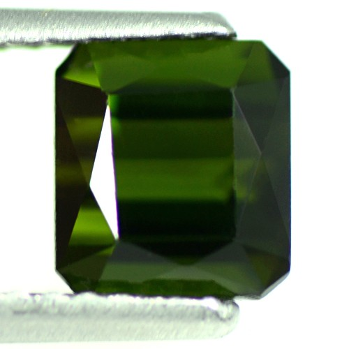 1.31 Cts Natural Top Deep Green Tourmaline Loose Gemstone Octagon Cut Brazil