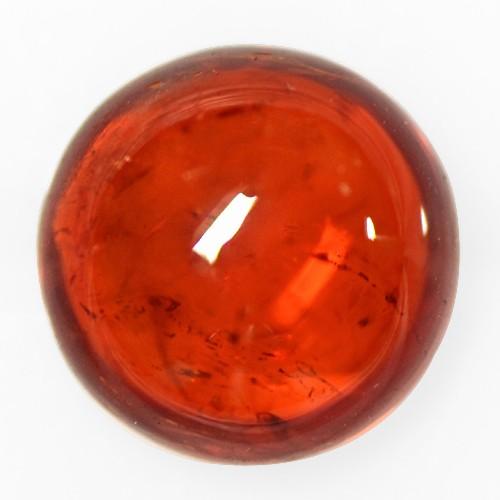 3.86 Cts Natural Top Fanta Orange Mandarin Spessartite Garnet Round Cab Namibia