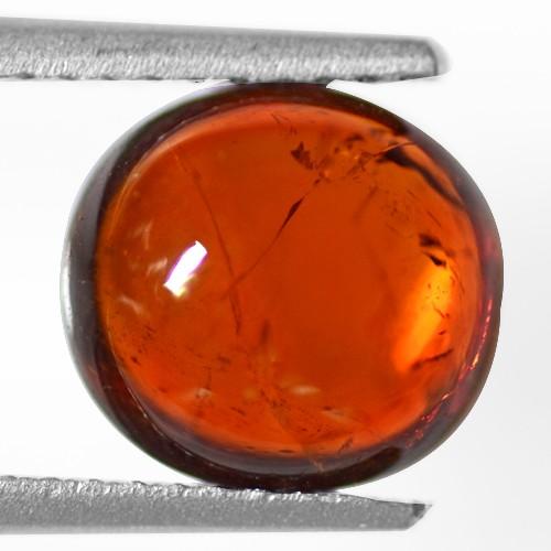 3.35 Cts Natural Top Fanta Orange Mandarin Spessartite Garnet Fancy Cab Namibia