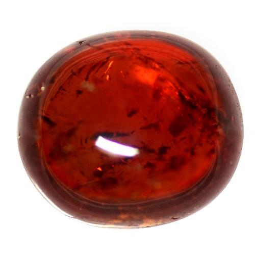 4.17 Cts Natural Top Fanta Orange Mandarin Spessartite Garnet Fancy Cab Namibia
