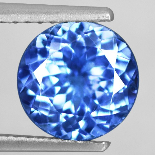 1.93 Cts Natural AAA+ Top Blue Tanzanite Loose Gemtone Round Cut 8 mm