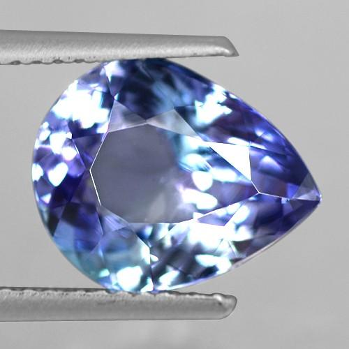 3.41 Cts Natural Top AAA+ D Block Blue Tanzanite Loose Gemstone Pear Cut Tanzania