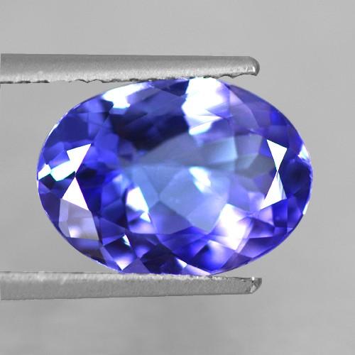 3.31 Cts Natural Top AAA+ D-Block Blue Tanzanite Loose Gemstone Oval Cut Tanzania